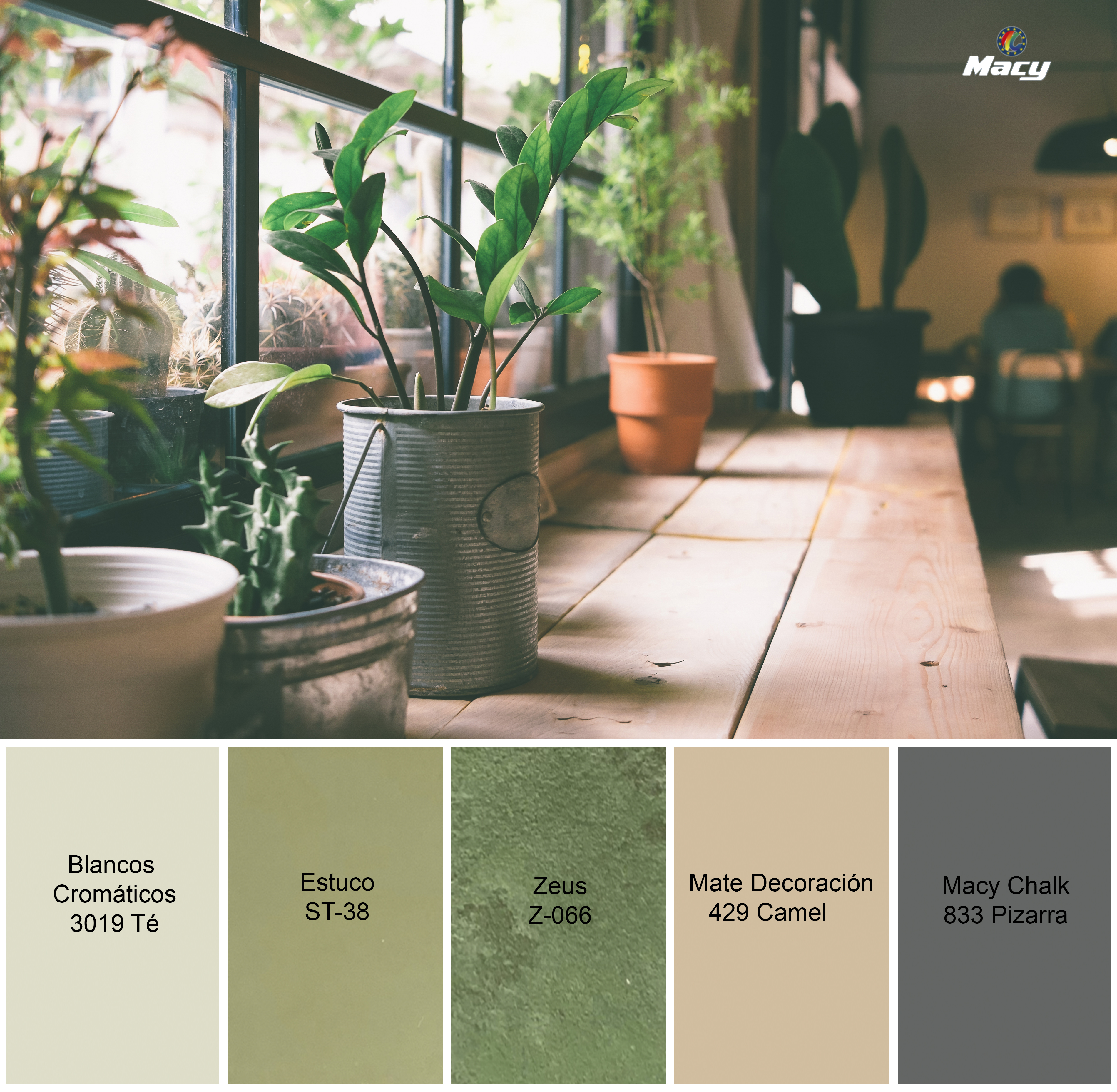 A COUNTRYSIDE-INSPIRED PALETTE OF COLORS