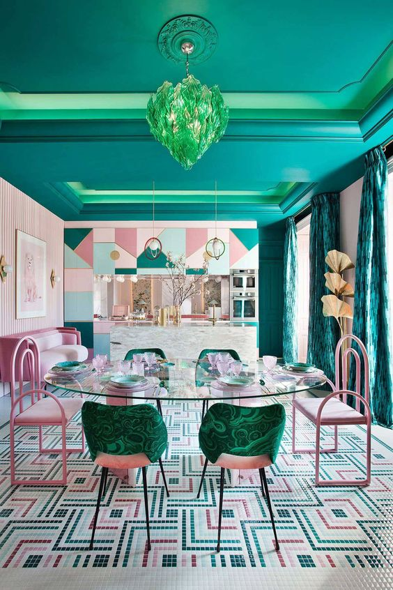 Full-color decorating ideas for your dining-room