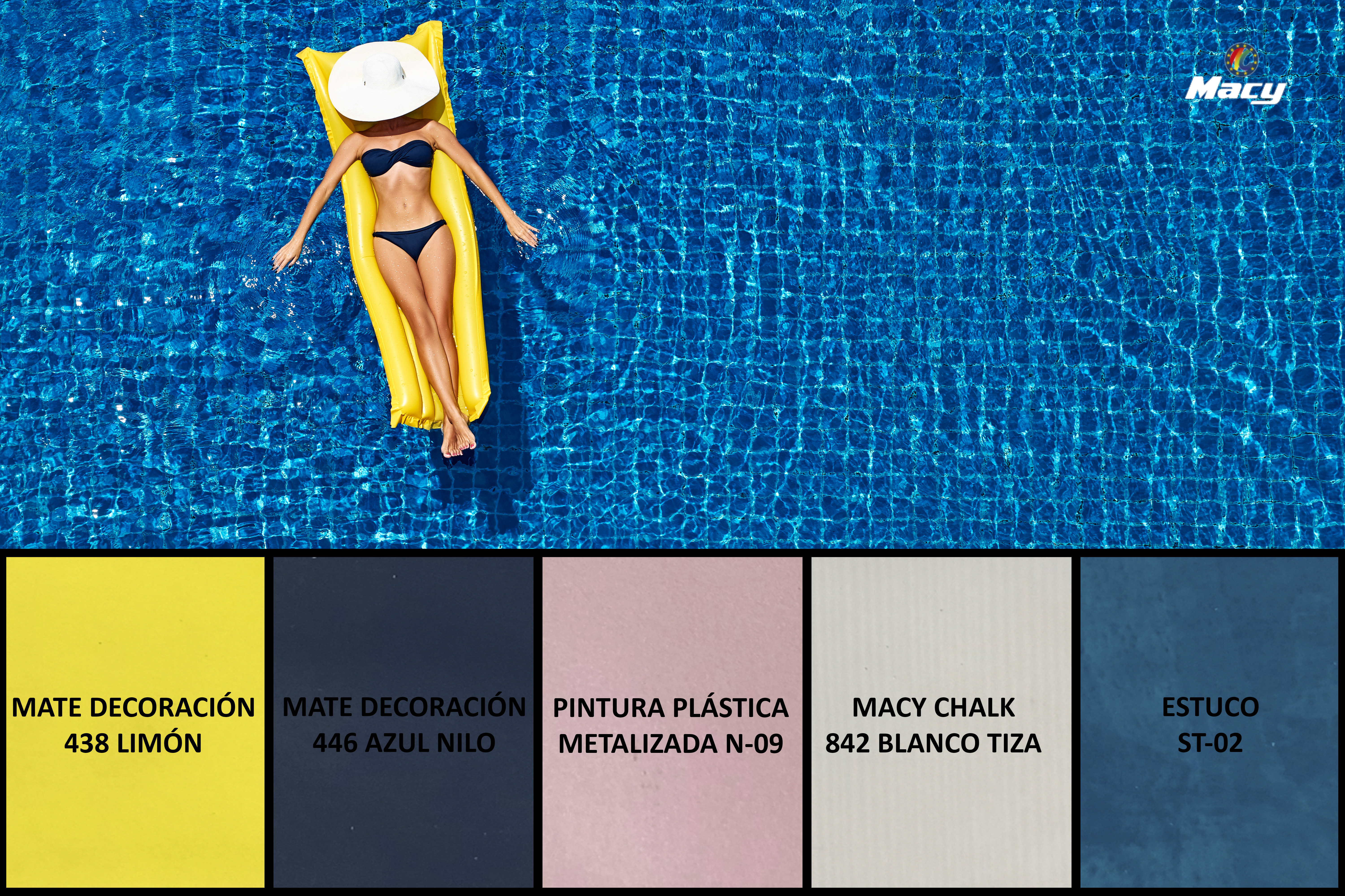 A SWIMMING-POOL, THE SOURCE OF INSPIRATION FOR OUR LATEST COLOR PROPOSAL