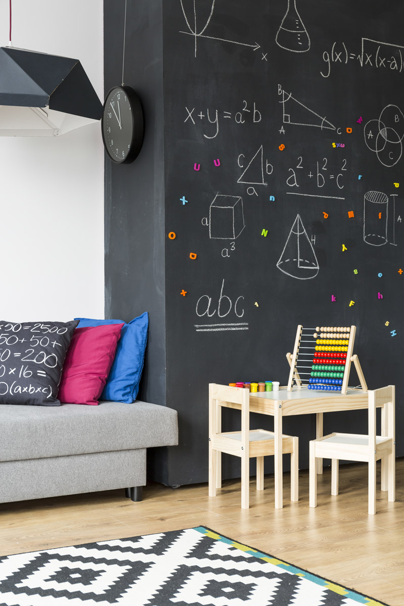 New magnetic paint: transform a wall into a magnetic surface